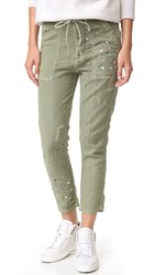 Sundry Paint Splashes Drawstring Pants Pigment Olive