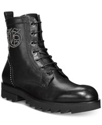 John Galliano Lug Sole Plain Toe Boots Men's Shoes Black