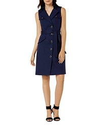 Karen Millen Military Shirt Dress Navy