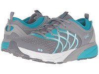 Ryka Nalu Frost Grey Mint Ice Bluebird Chrome Silver Women's Shoes Gray