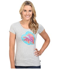 Merrell Palm Leaf Tee Ice Heather Women's T Shirt Gray