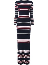 Chinti And Parker Rib Striped Long Dress Multicolour