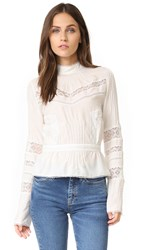 Derek Lam Long Sleeve Blouse Soft White