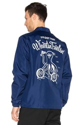 Deus Ex Machina Wheelin Coach Jacket Blue