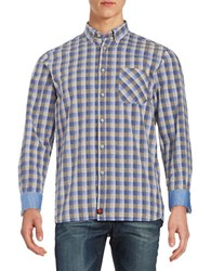 Strellson Checked Sportshirt Medium Blue