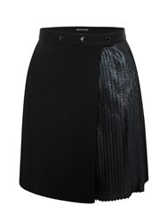 Markus Lupfer Black And Navy Pleated Glitter Lurex Anjelika Skirt