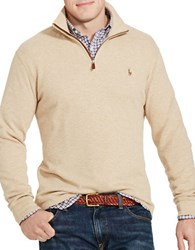 Polo Big And Tall Ribbed Cotton Pullover Brown