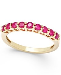 Macy's Ruby Thin Band 5 8 Ct. T.W. In 18K Gold Vermeil Dark Red