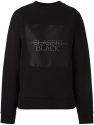 Alexander Wang T By Classic Black Patch Sweatshirt