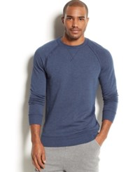 2Xist 2 X Ist Men's Loungewear Terry Pullover Sweatshirt Denim Heat