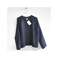 Long Sleeves Blouse Indigo Fabric