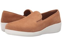 Fitflop Pop Skate Perf Tan Women's Flat Shoes