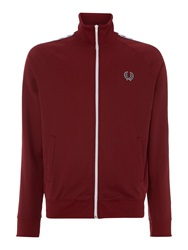 Fred Perry Plain Funnel Neck Tracksuit Maroon