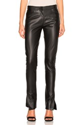 Loewe Leather Trousers In Black