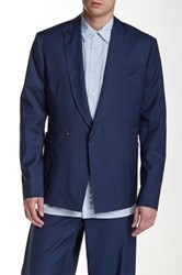 Ports 1961 Wool Double Breasted Blazer Blue