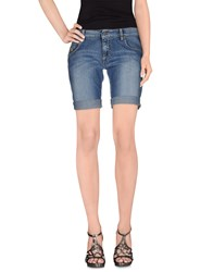 Franklin And Marshall Denim Denim Bermudas Women Blue