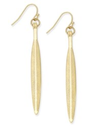 Inc International Concepts Gold Tone Geo Feather Linear Earrings Only At Macy's
