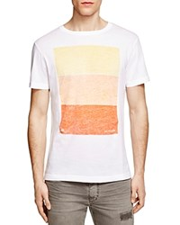 Sundek Logan Color Block Graphic Tee White