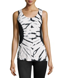 Xcvi Tie Dye Scoop Neck Tank Multi