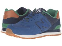 New Balance Ml574 England Blue Navy Men's Running Shoes Multi