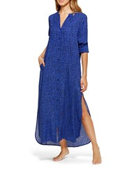 Dkny Must Have Caftan Nightgown Royal