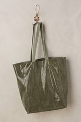Anthropologie Kata Leather Tote Green