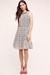 Anthropologie Daisy Flare Dress Black And White