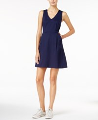 Maison Jules V Neck Fit And Flare Dress Only At Macy's Blu Notte