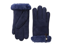Ugg Tenney Glove With Leather Trim Peacoat M Dress Gloves Blue