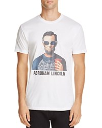 Kid Dangerous Abroham Lincoln Graphic Tee White