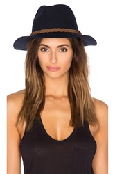 Michael Stars She's Twisted Fedora Navy