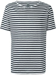 Eleventy Sailor Stripes T Shirt White
