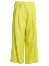 Adam By Adam Lippes Pleated Front Wide Leg Cropped Trousers