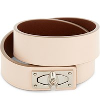 Givenchy Double Wrap Shark Tooth Leather Bracelet Nude Pink