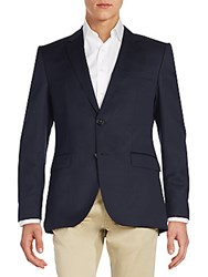 Hugo Boss Regular Fit The James Virgin Wool Sportcoat Dark Blue