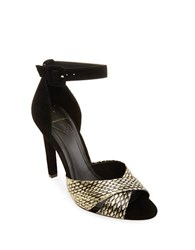 Brian Atwood Tied Contrast Pumps Black
