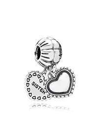 Pandora Design Pandora Dangle Charm Sterling Silver My Special Sister Moments Collection