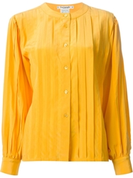 Guy Laroche Vintage Pleated Shirt Yellow And Orange