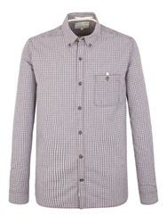 Racing Green Newton Small Check Shirt Wine