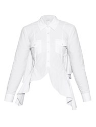 Marques Almeida Open Back Ruffled Shirt