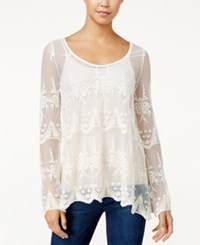 American Rag Embroidered Lattice Back Top Only At Macy's Egret