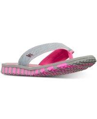 Skechers Women's Go Flex Vitality Flip Flop Sandals From Finish Line Grey Hot Pink