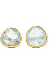 Pippa Small 18 Karat Gold Aquamarine Earrings
