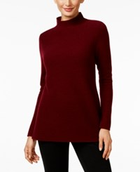 Charter Club Cashmere Ribbed Mock Neck Sweater Only At Macy's Crantini