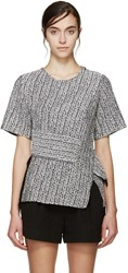 3.1 Phillip Lim Silver Braided Knit Top