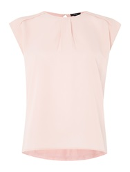 Therapy Woven Front Shell Top Pink