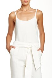 Giorgio Armani Scoop Neck Knit Tank White