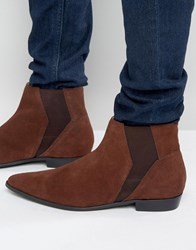 Religion Suede Chelsea Boots Brown