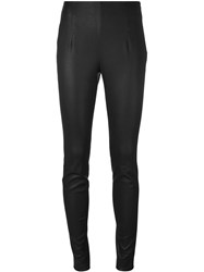 Thierry Mugler Leather Skinny Pants Black