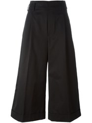 Golden Goose Deluxe Brand Cropped Wide Leg Trousers Black